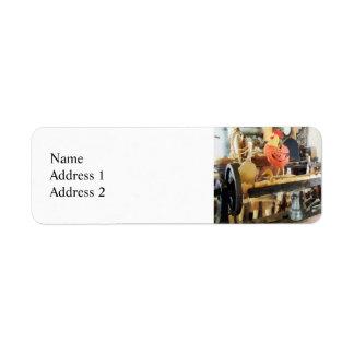 Lathe in Wood Shop Return Address Label