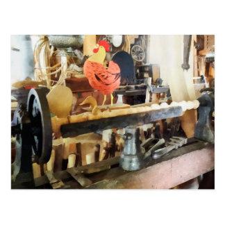Lathe in Wood Shop Postcard