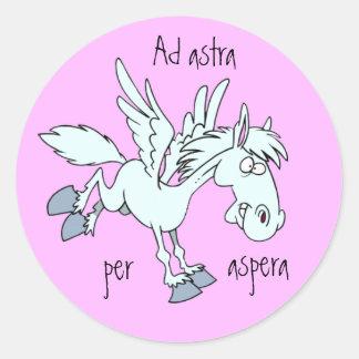 Latin: Ad astra per aspera Stickers
