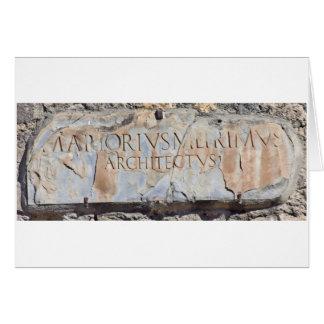 Latin Architect Card