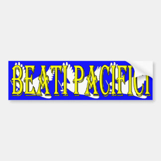 latin blessed peacemakers over 3 white doves bumper sticker