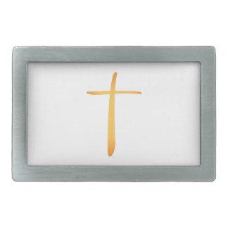 Latin Christian Cross Rectangular Belt Buckle