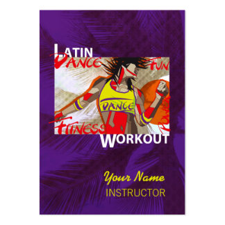 LATIN DANCE WORKOUT - Business-, Schedule Card Pack Of Chubby Business Cards