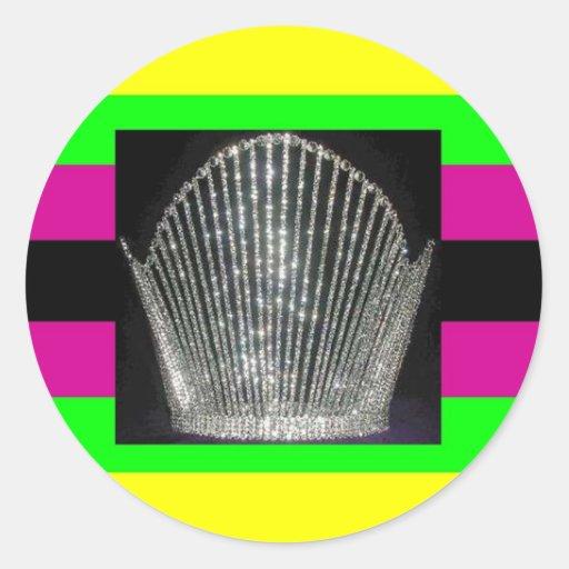 Latin Diva Pride Round Sticker