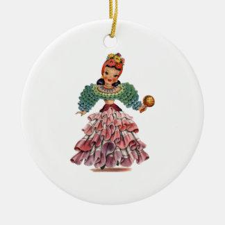 Latin Doll Christmas Ornament