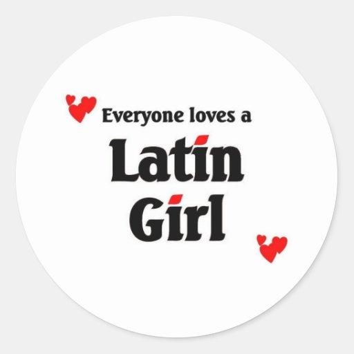 Latin Girl Sticker