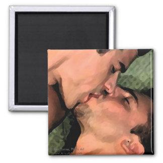 Latin Kiss Square Magnet