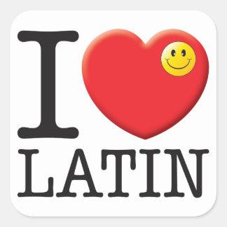 Latin Love Square Stickers
