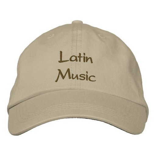 Latin Music Embroidered Baseball Cap