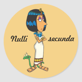 Latin: Nulli secunda Round Sticker