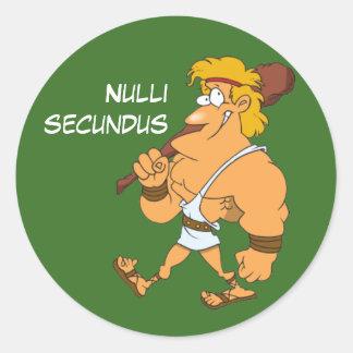Latin: Nulli secundus Round Sticker