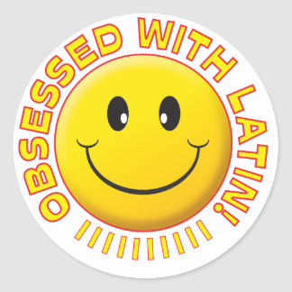Latin Obsessed Smile Stickers