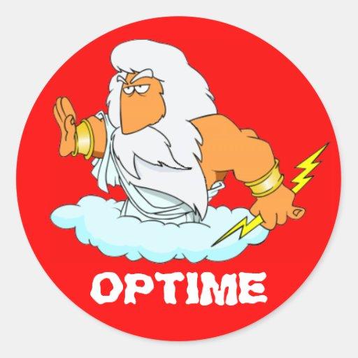 Latin: Optime! Round Stickers