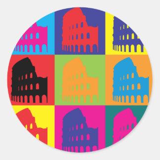Latin Pop Art Round Sticker