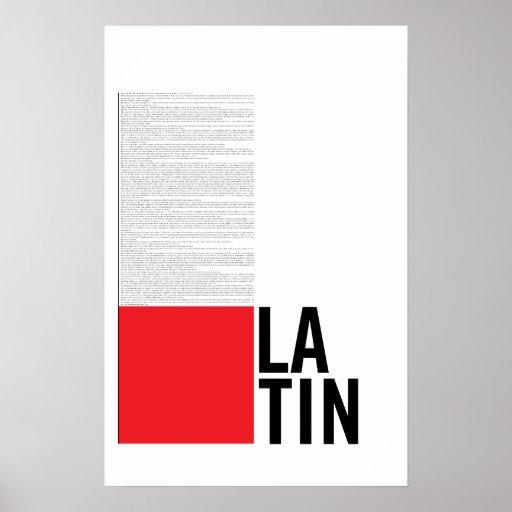 Latin Poster