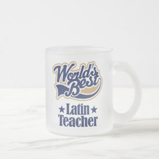 Latin Teacher Gift For (Worlds Best) Frosted Glass Coffee Mug