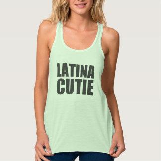 Latina Cutie Design Flowy Racerback Tank Top