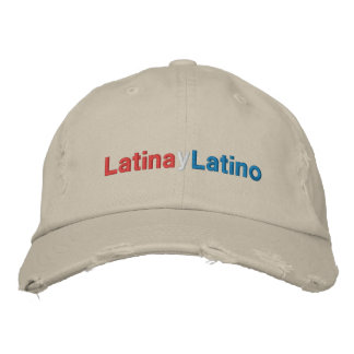 Latina y Latino Embroidered Hats