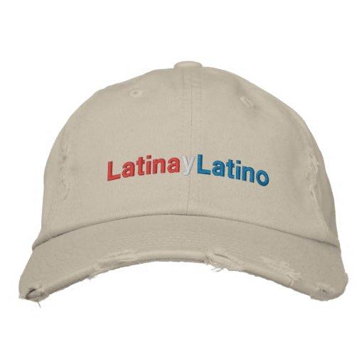 Latina y Latino Embroidered Hats