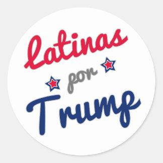 Latinas por Trump Spanish Classic Round Sticker