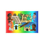 Latino America Wrapped Canvas