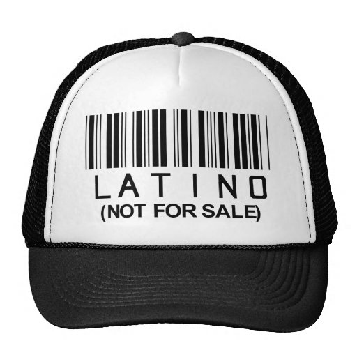 Latino Barcode Mesh Hats
