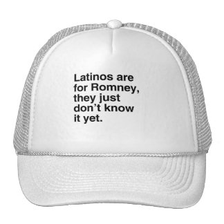 Latinos are for Romney png Trucker Hat