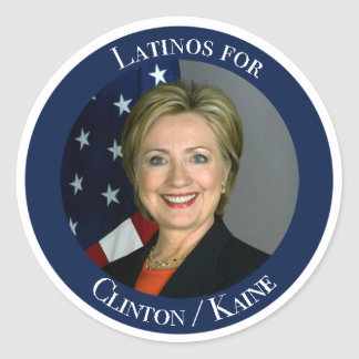 Latinos for Clinton y Kaine Round Sticker