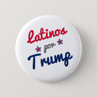 Latinos por Trump Spanish 6 Cm Round Badge