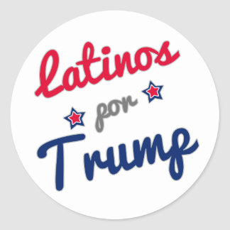 Latinos por Trump Spanish Round Sticker