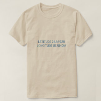 Latitude and Longitude Custom Shirt
