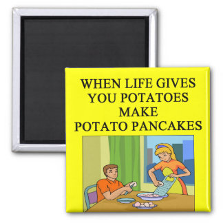 latkes potato pancake joke magnet