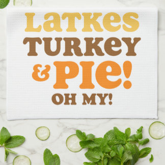 Latkes Turkey And Pie Tea Towel