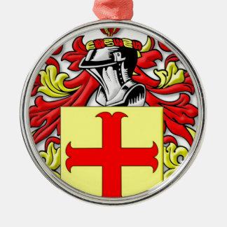 Latona Coat of Arms Silver-Colored Round Decoration