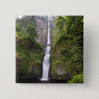 Latourell Falls & Bridge Columbia River Gorge 15 Cm Square Badge