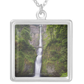Latourell Falls & Bridge Columbia River Gorge Silver Plated Necklace