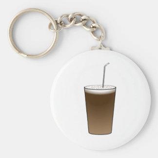 Latte Basic Round Button Key Ring