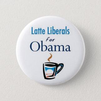 Latte Liberals for Obama Button