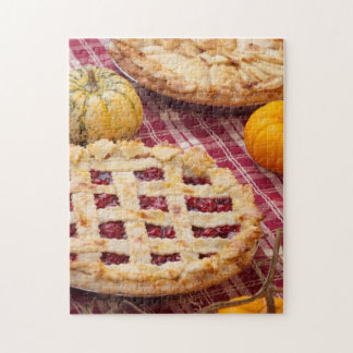 Lattice Cherry Pie And Apple Pie Jigsaw Puzzle