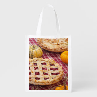 Lattice Cherry Pie And Apple Pie Reusable Grocery Bag