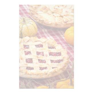 Lattice Cherry Pie And Apple Pie Stationery Design