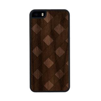 Lattice Fence Carved® Walnut iPhone 5 Case
