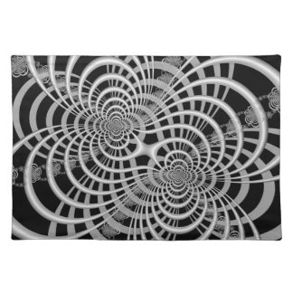 Lattice in Black and White American MoJo Placemats