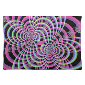 Lattice in Blue and Pink Placemats