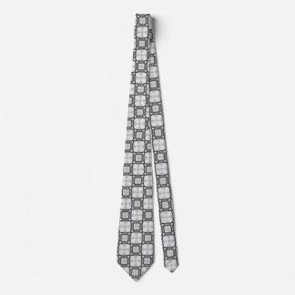 Lattice Moroccan Abstract Square Tile Pattern Tie