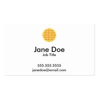 Lattice Pumpkin Pie - Pi Day Pack Of Standard Business Cards