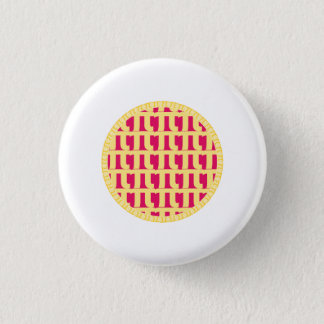 Lattice Raspberry Pie - Pi Day 3 Cm Round Badge