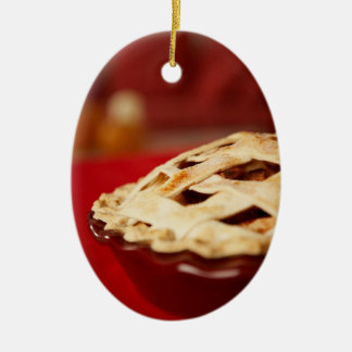 Lattice-topped Fruit Pie Christmas Ornament