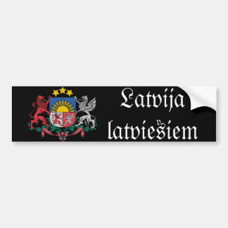 Latvain bumper sticker with coat of arms