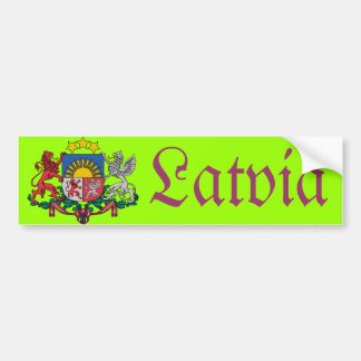 Latvia bumper sticker